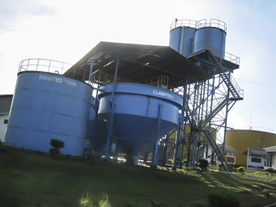 Palm oil mil process of raw water supply